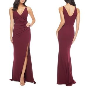 NWT Dress The Population Burgundy Gown